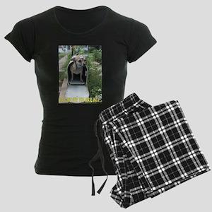 Waiting for the Mailman Women's Dark Pajamas