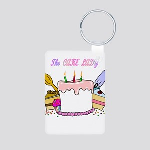 The Cake lady Aluminum Photo Keychain