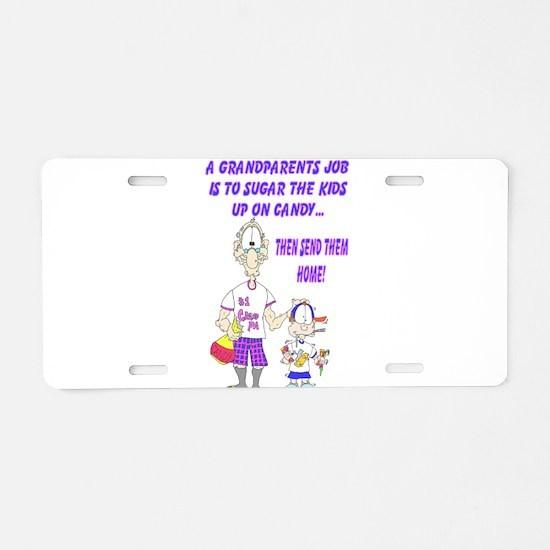 GrandParents Aluminum License Plate