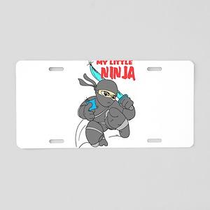 My Little Ninja Aluminum License Plate