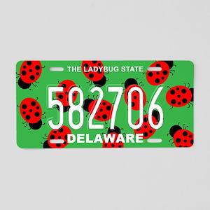 DE Ladybug Aluminum License Plate