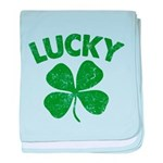 4 Leaf Lucky baby blanket