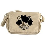 Butterfly-shaped fans Messenger Bag