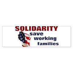 Solidarity - Union - Recall W Bumper Sticker