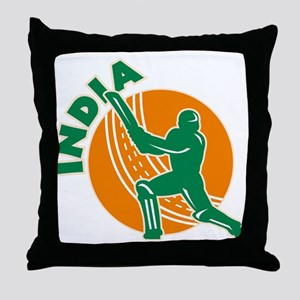 Cricket India Throw Pillow