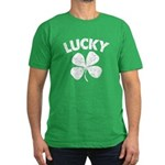 4 Leaf Lucky Men's Fitted T-Shirt (dark)