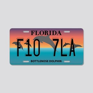 FL Dolphins Aluminum License Plate