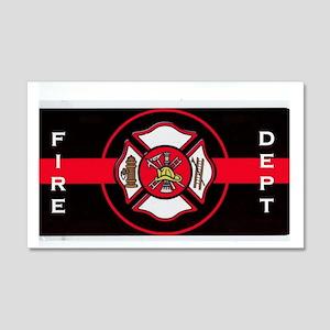 FIRE DEPT 22x14 Wall Peel