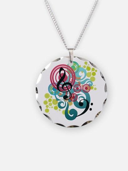 Music Swirl Necklace