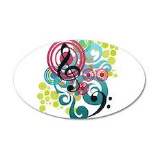 Music Swirl 22x14 Oval Wall Peel