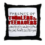 Parents Eat Their Young Throw Pillow