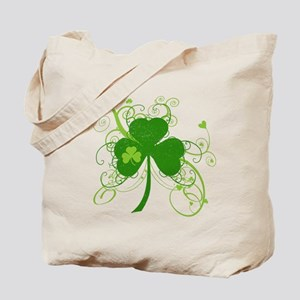 St Paddys Day Fancy Shamrock Tote Bag