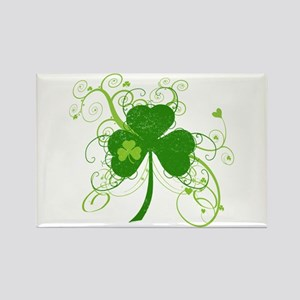 St Paddys Day Fancy Shamrock Rectangle Magnet
