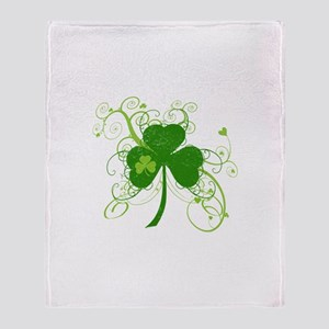 St Paddys Day Fancy Shamrock Throw Blanket