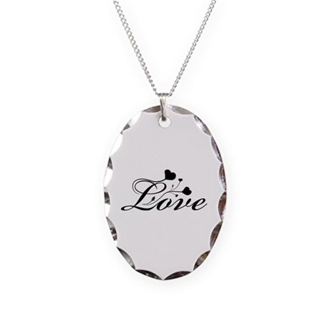 Love Necklace Oval Charm