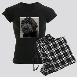 Black Russian Terrier Women's Dark Pajamas
