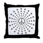 Peace Burst Throw Pillow