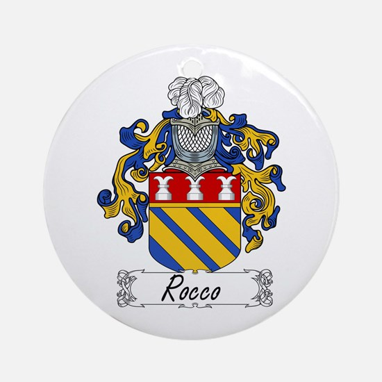 Rocco Coat of Arms Ornament (Round)