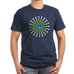 Peace Burst Men's Fitted T-Shirt (dark)