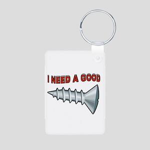 DON'T WE ALL Aluminum Photo Keychain
