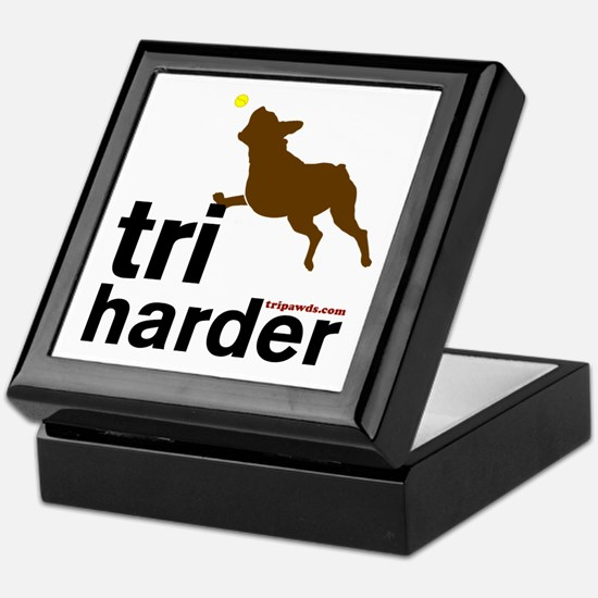 Tri Harder Boxer Keepsake Box