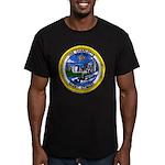 USS CHARLOTTE Men's Fitted T-Shirt (dark)