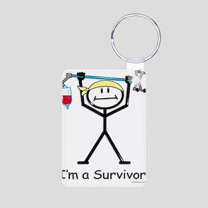 Cancer Survivor Aluminum Photo Keychain