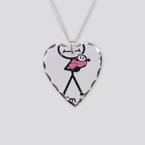 New Grandma Baby Girl Necklace Heart Charm