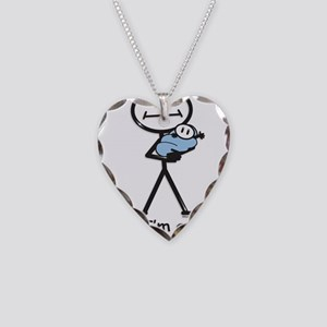 Great Grandma Baby Boy Necklace Heart Charm