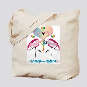 Gay Flamingos Tote Bag