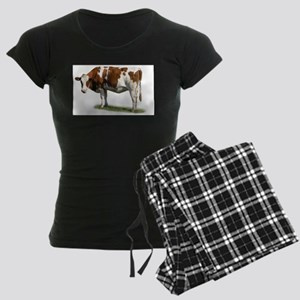 Cow Photo Women's Dark Pajamas