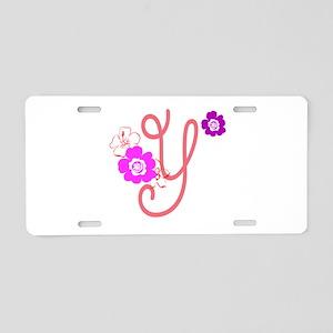 Letter Y Aluminum License Plate