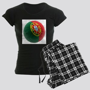 Portugal World Cup Ball Women's Dark Pajamas