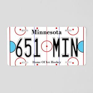 MN Hockey Aluminum License Plate