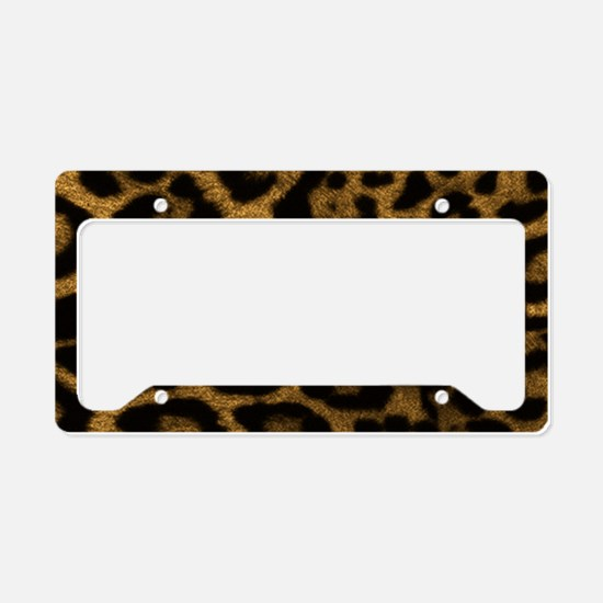 Jaguar Print License Plate Holder