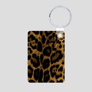 Jaguar Print Aluminum Photo Keychain