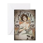 Vintage Mucha Greeting Card