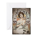 Vintage Mucha Greeting Cards (Pk of 10)