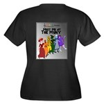 Behind The Scenes Women's V-Neck Plus Size T-S