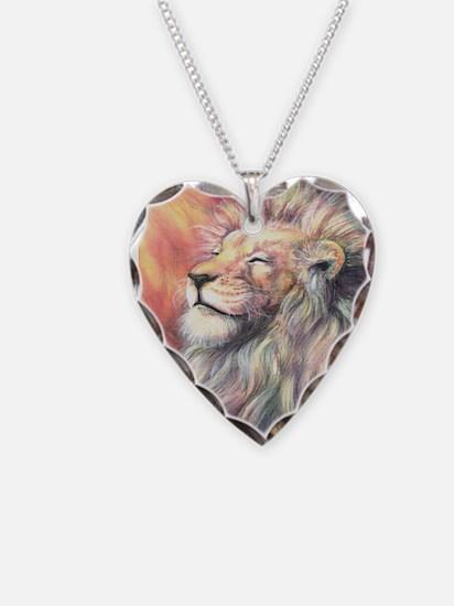 Sun King Necklace Heart Charm