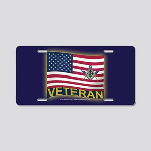 The Veteran Aluminum License Plate