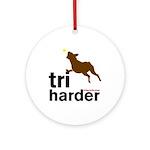 Tri Harder Boxer Ornament (Round)