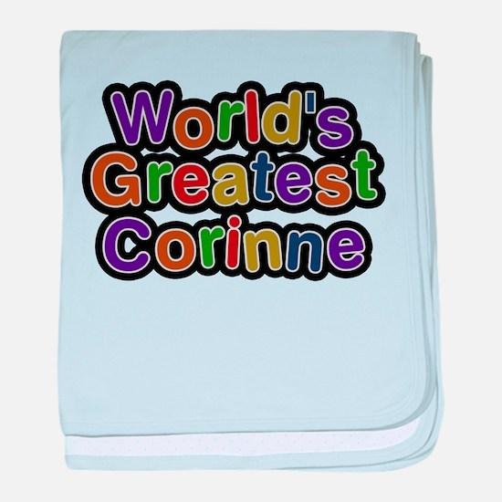 Worlds Greatest Corinne baby blanket