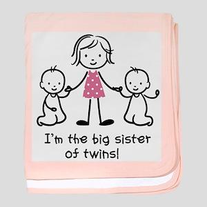 Big Sister of Twins baby blanket