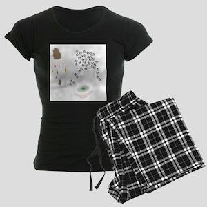Lucky Flyball Women's Dark Pajamas