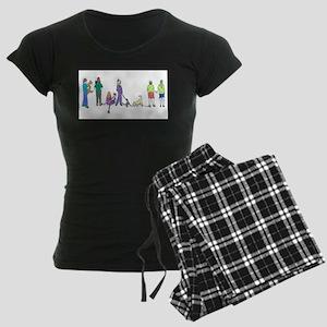 Flyball Crowd Women's Dark Pajamas