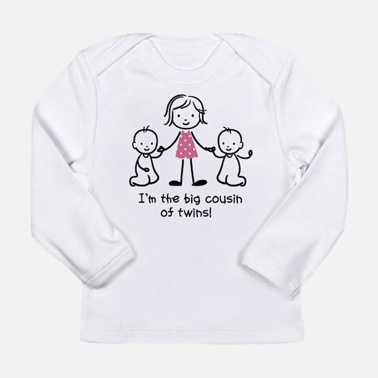 Big Cousin of Twins Long Sleeve Infant T-Shirt
