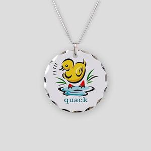 QUACK Necklace Circle Charm