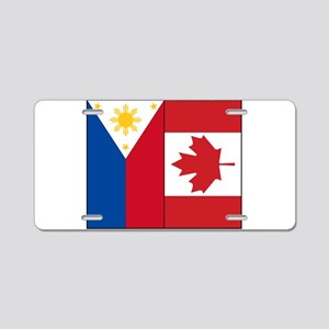 PI Flag & Canada Flag Aluminum License Plate