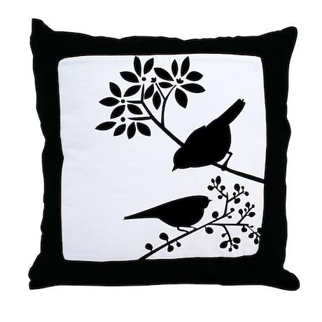 Elegant Birds Throw Pillow